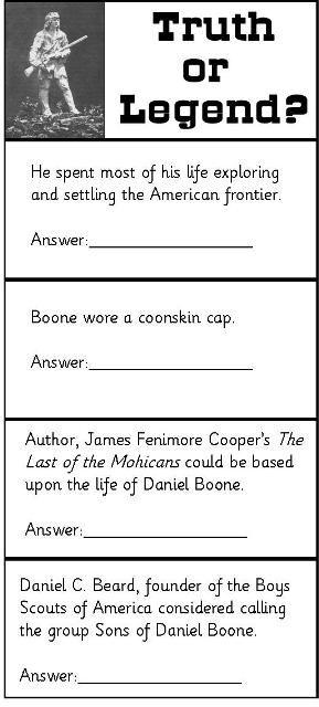 Daniel Boone North American Explorer Daniel Boone border=