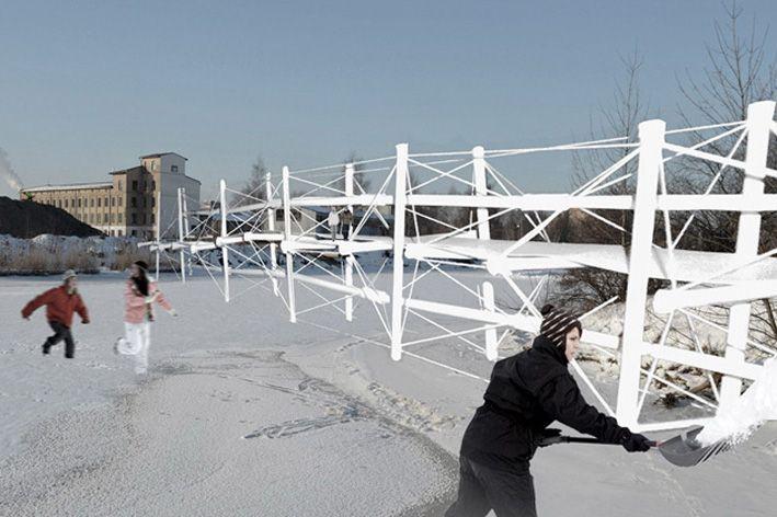 CREOGROUP » Tensegriti tilts / Tensegrity bridge