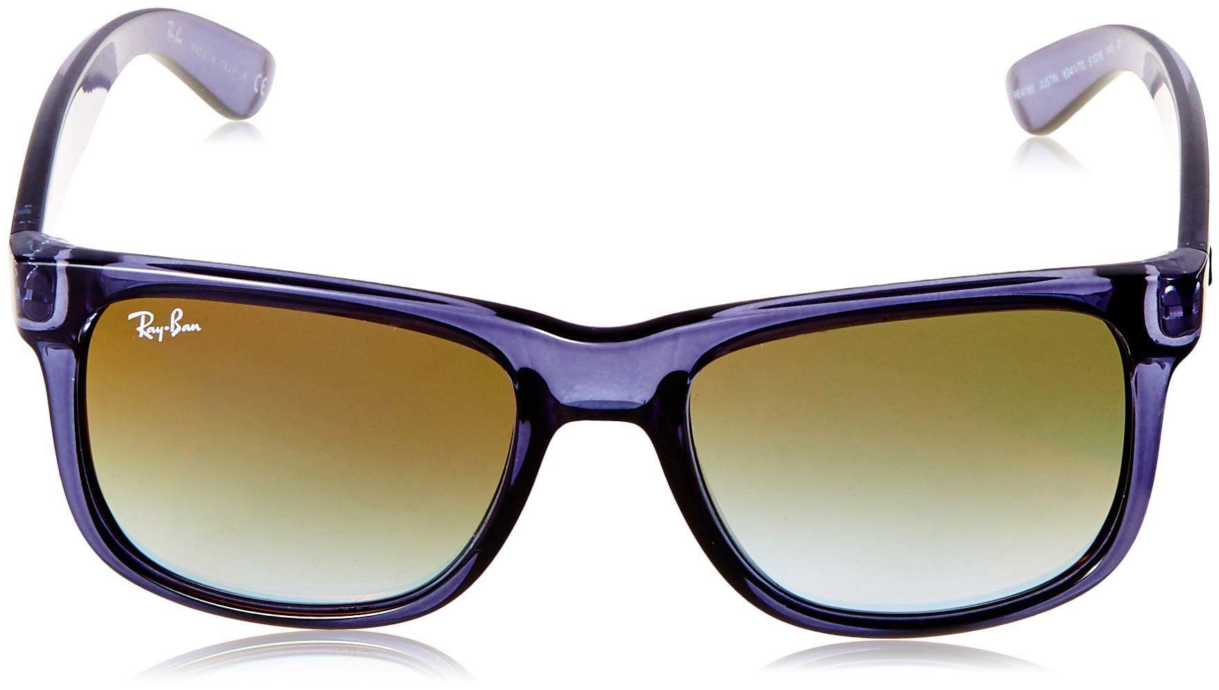 9835ff3501 RayBan Mens Nylon Man NonPolarized Iridium Rectangular Sunglasses  Trasparent Blue 50 mm    Visit the