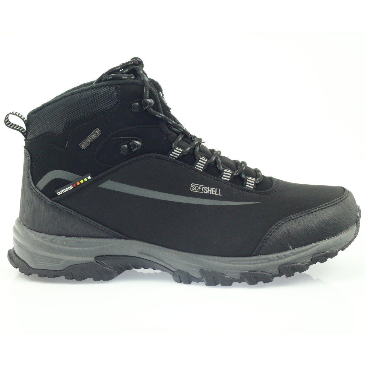 American Club American Trekkingi Buty Zimowe Z Membrana Czarne Softshell Boots Hiking Boots