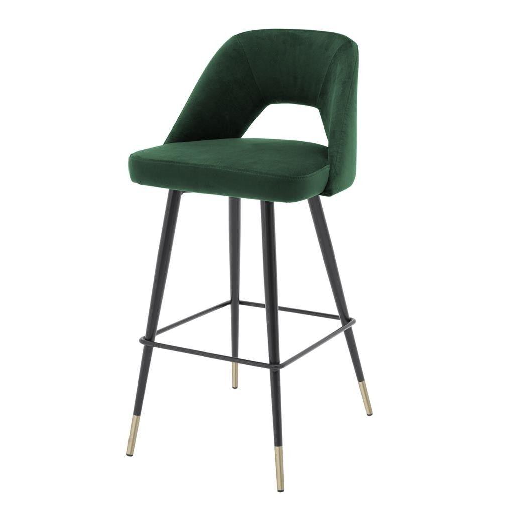 Fabulous Avorio Roche Green Velvet Bar Stool Kitchen Bar Stools Bralicious Painted Fabric Chair Ideas Braliciousco