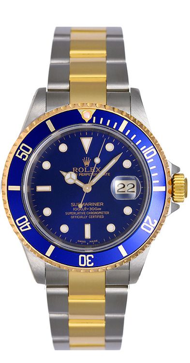 9a74a5223dbd5 Rolex Submariner Blue Pre-Owned 16613 - Luxury Of Watches
