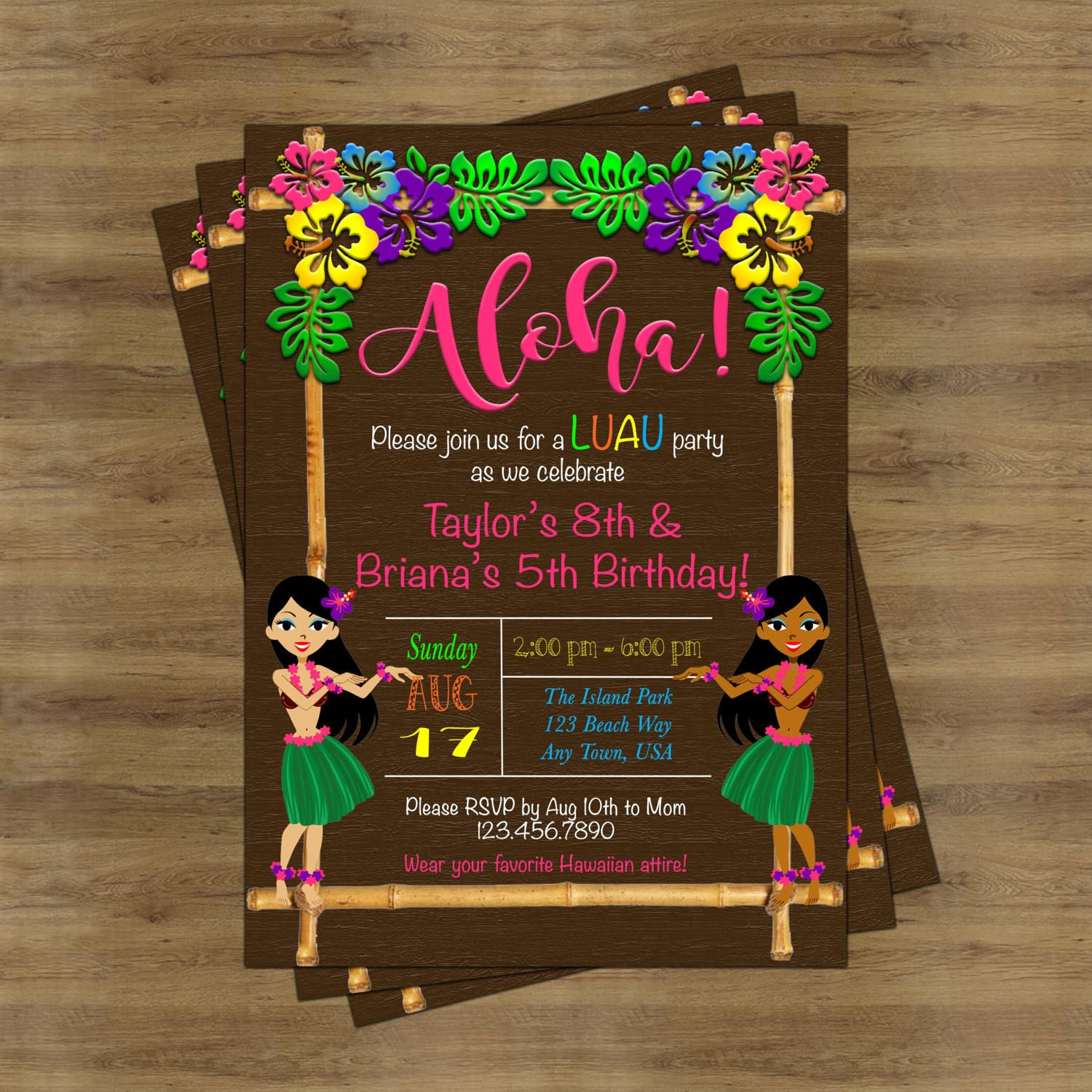 Luau birthday invitation luau invitation hawaiian invitation luau birthday invitation luau invitation hawaiian invitation hawaiian party invitations tropical invitation stopboris Image collections