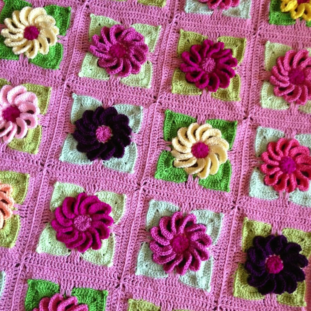 Gerbera Daisy Blanket – A true delight! Check out the original ...