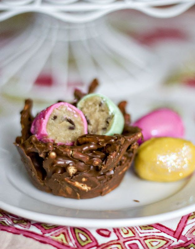 Cookie Dough Eggs and Chocolate PB Nests