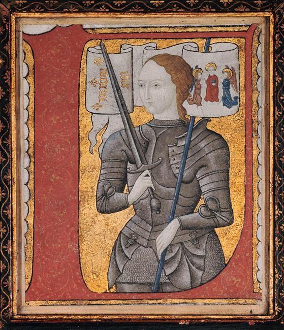 Anonymous Joan of Arc c 1450 Illuminated manuscript on
