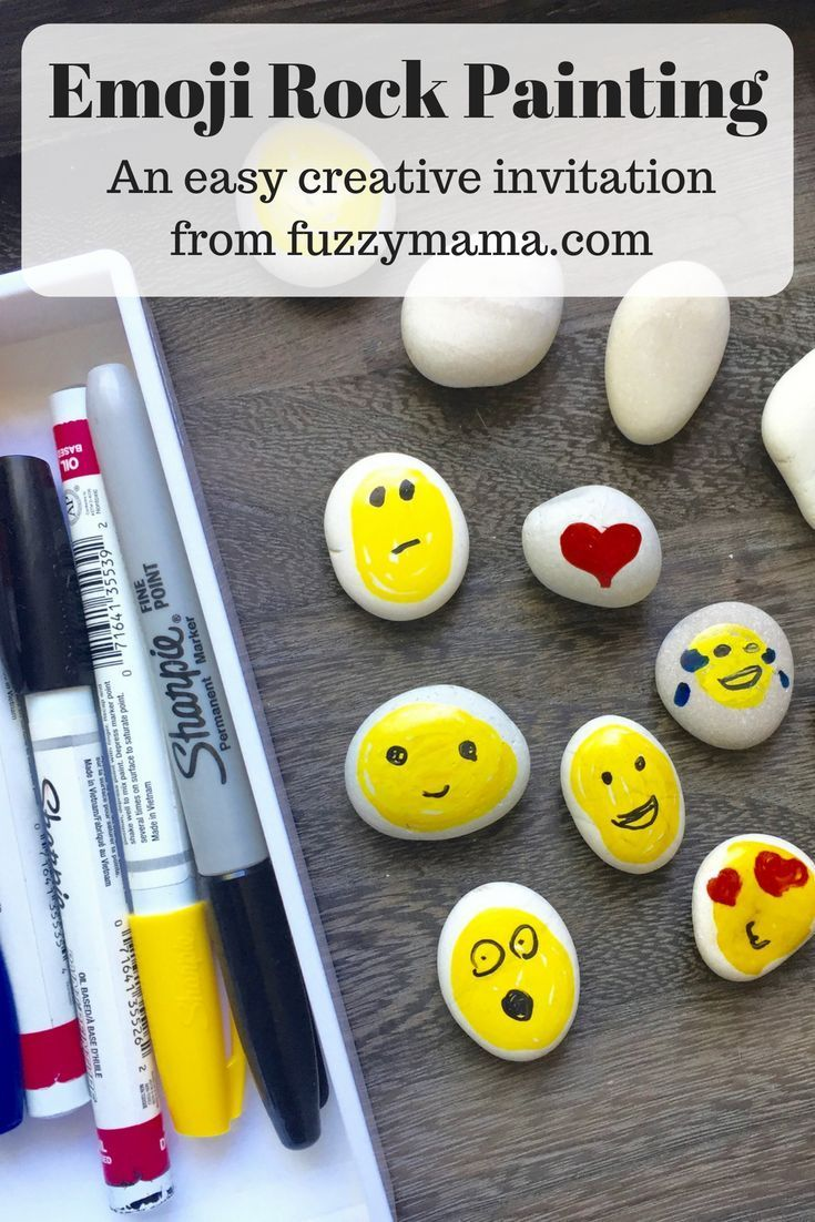 Emoji Rock Painting Invitation