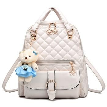 0b9542057cce Brand women leather backpacks school bag female backpacks women high ...