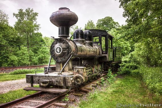 Argent Lumber Co Steam Engine #4, Antique Locomotive, Old