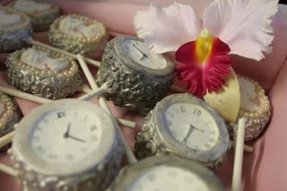 Pocket Watch and Cameo Cake Pops