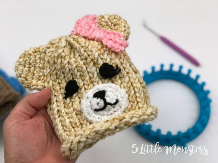 Embellished Loom Knit Hats: Baby Bears en 2018 | Hobby | Pinterest