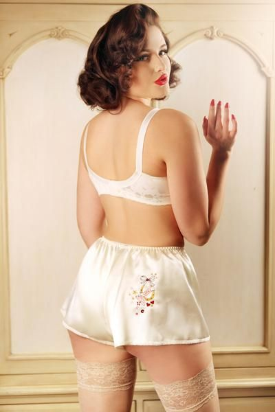 73aa09270441 satin French knickers | French knickers, tap pants and teddies ...