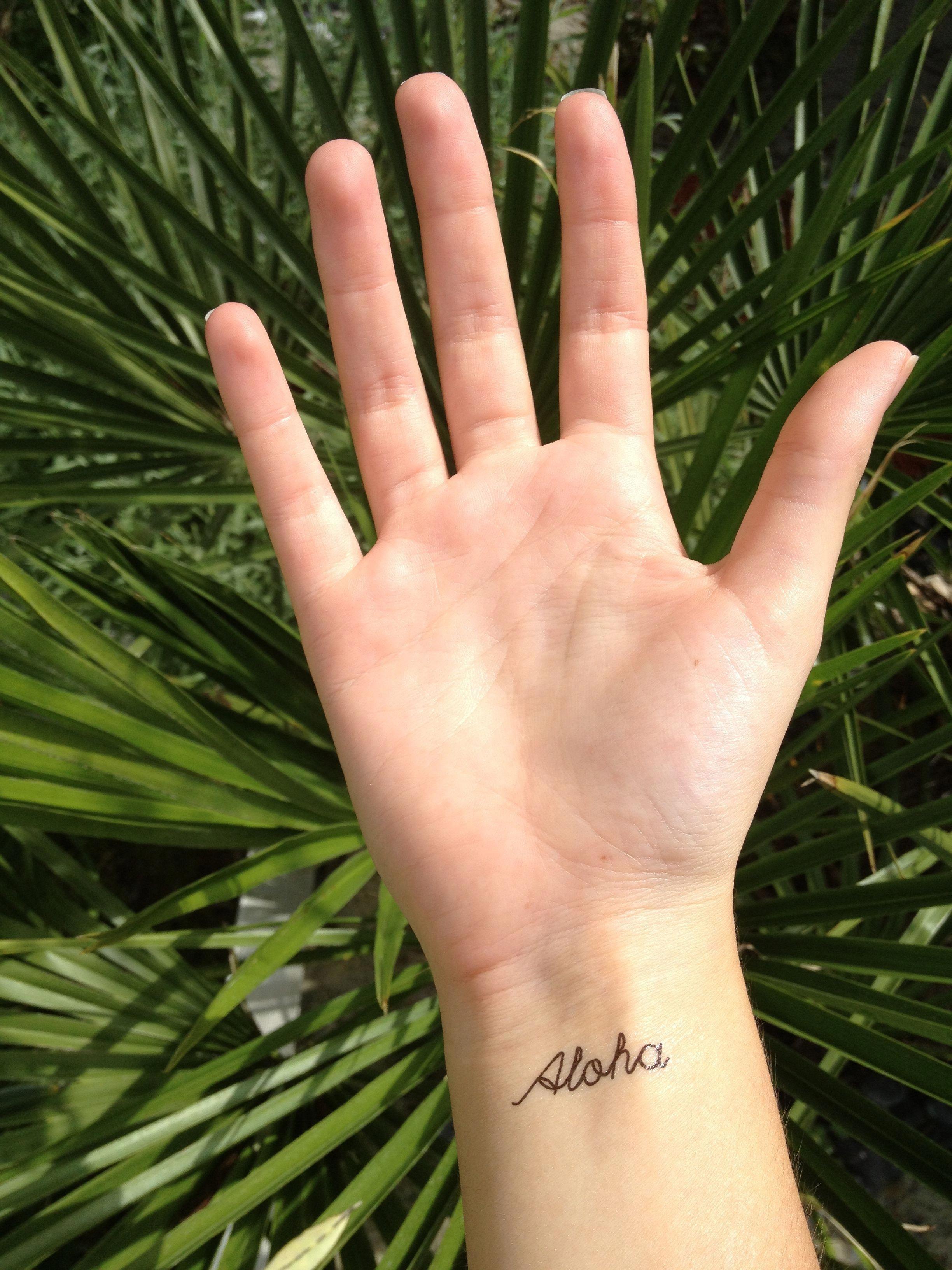 Aloha ephemeral tattoo skin feelings good vibes only live
