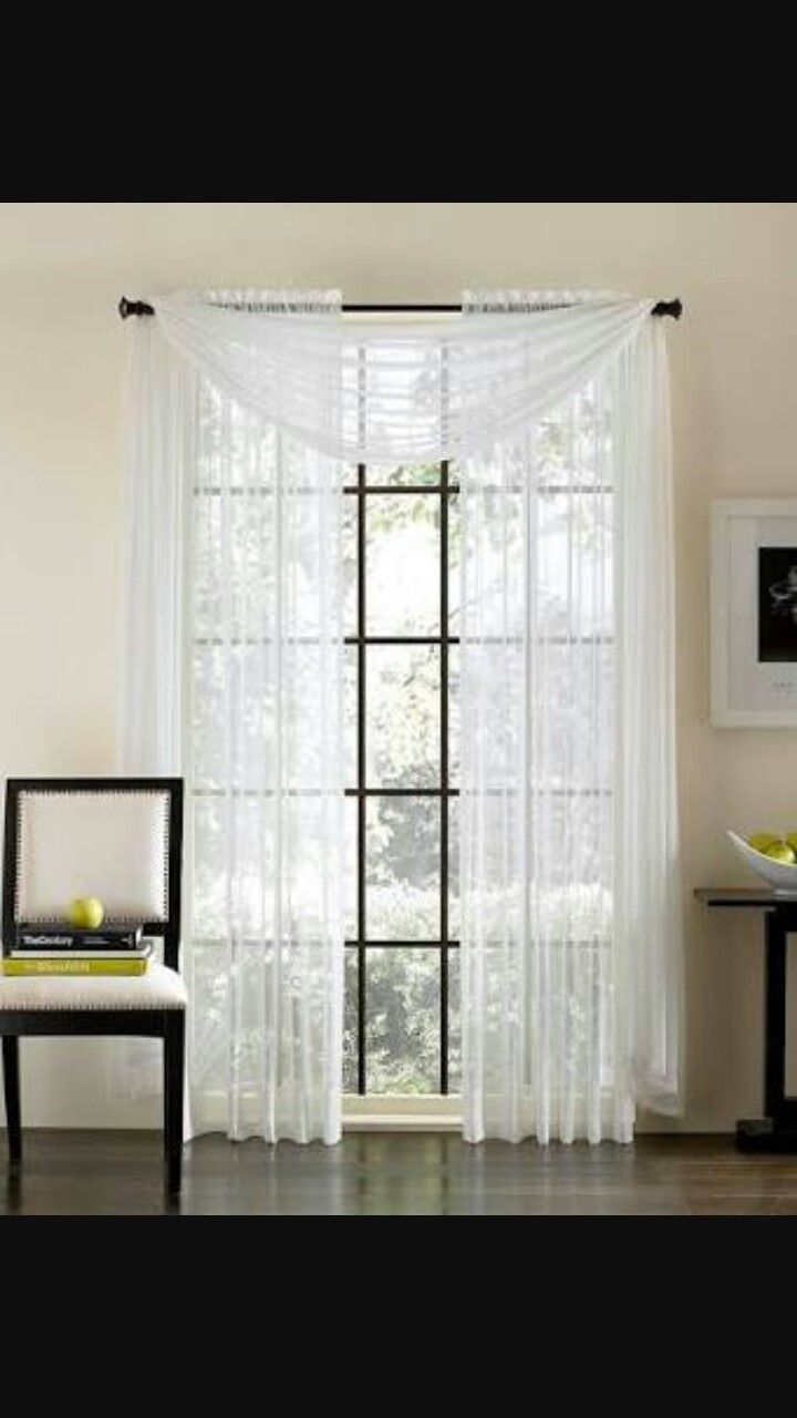 Pin By Yasmina Anis On Curtains Curtains White Sheer Curtains