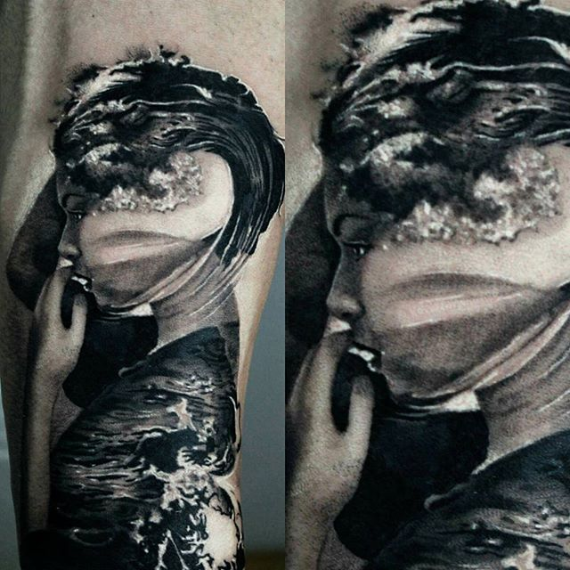 18 Magnificent Double Exposure Tattoos | Tats | Tattoos ...