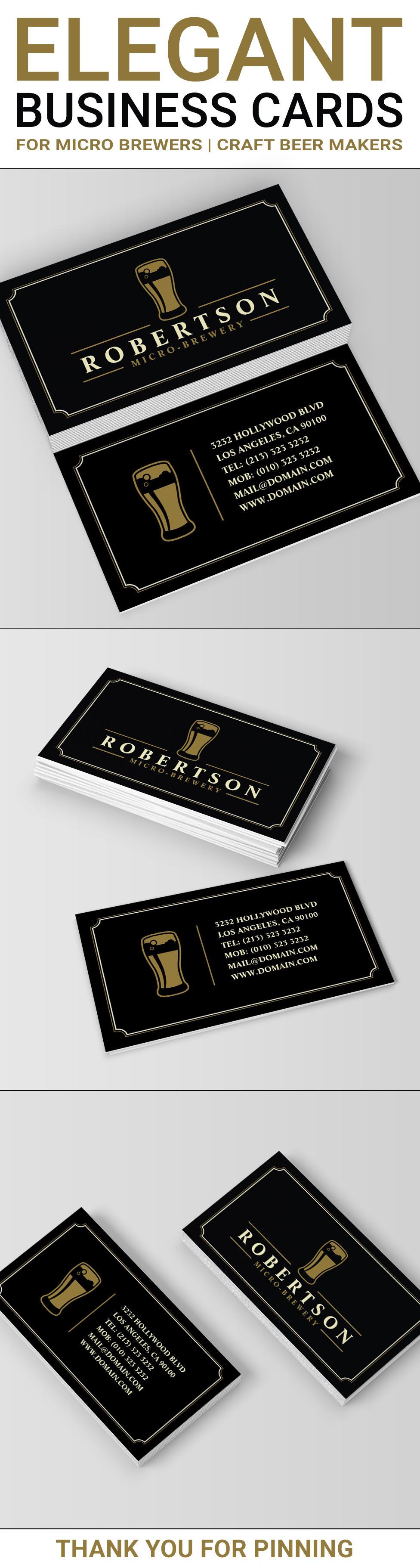 Elegant Micro Brewery Craft Beer Business Card | Pinterest | Card ...