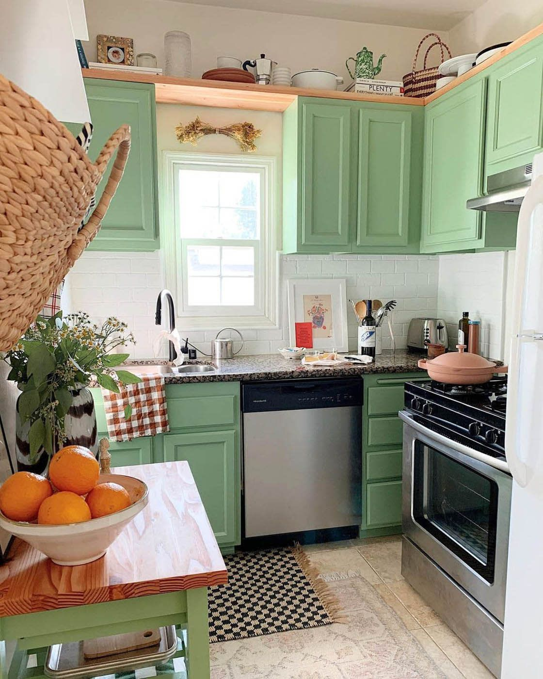 7 Ideas For Kitchen Paint Colors To Try In 2021 Funky Kitchen Kitchen Paint Cottage Kitchen Inspiration Light green kitchen paint