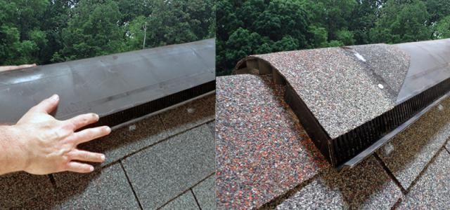 Create Natural Ventilation In Your Attic By Installing A Ridge Vent Ridge Vent Roof Repair Diy Natural Ventilation