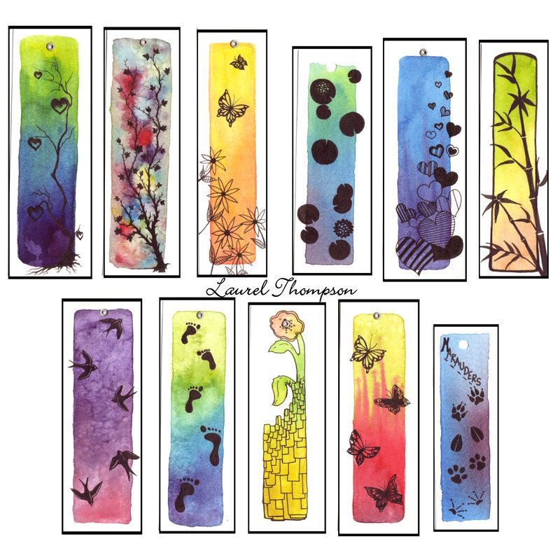403 Forbidden Creative Bookmarks Bookmarks Handmade Watercolor Bookmarks