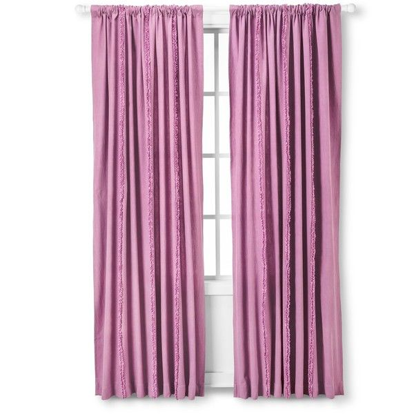 All Over Ruffle Window Panel Purple 26 Liked On Polyvore