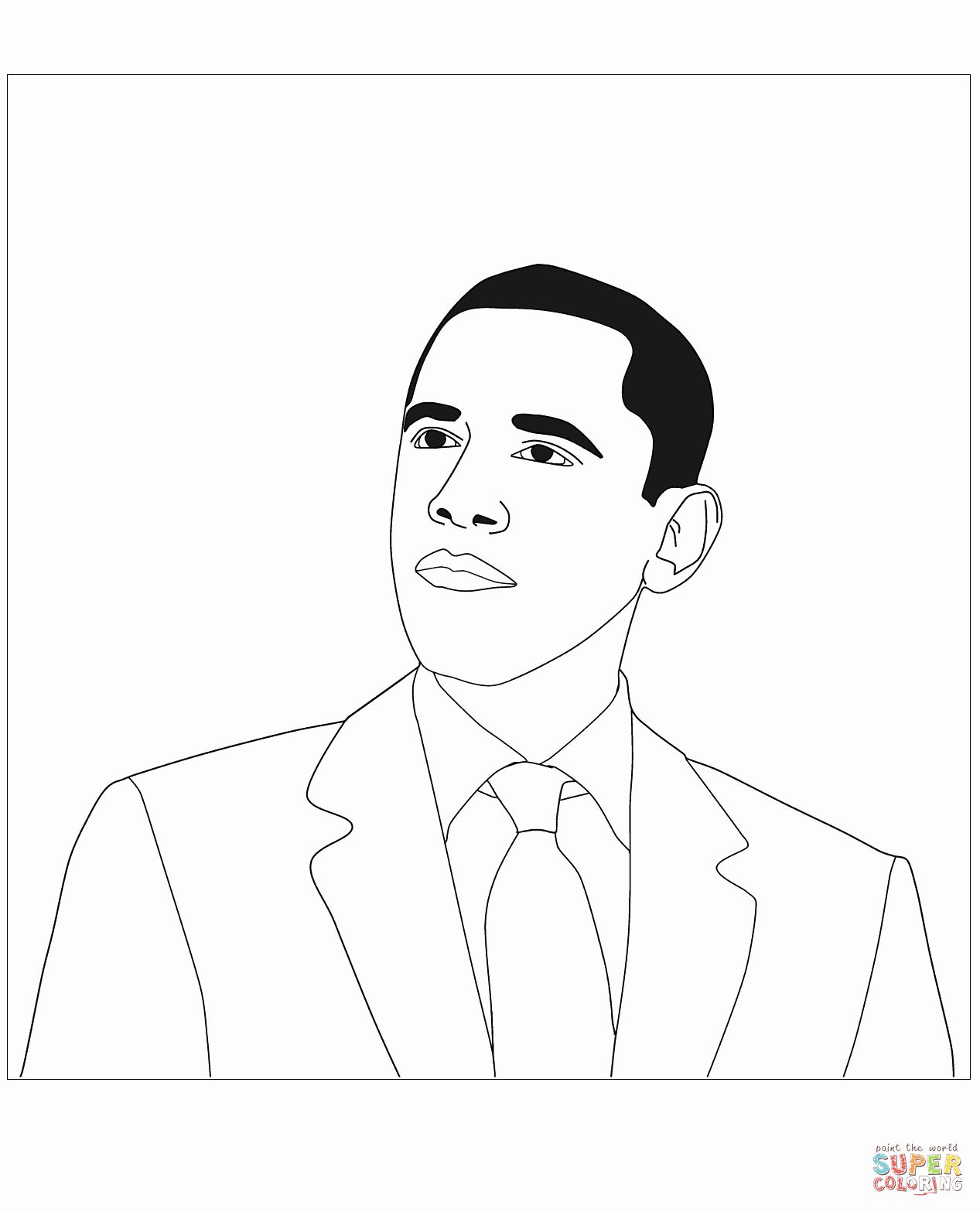 Barack Obama Coloring Page Luxury President Barack Obama Coloring Page Coloring Pages Bear Coloring Pages Angel Coloring Pages