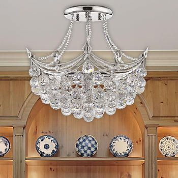 Lighting By Pecaso Paa Chandelier In Polished Chrome 19 L X 20 W 25 Lbs Number Of Lights 6