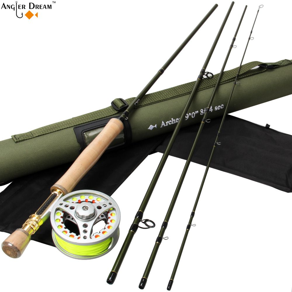 Fly Fishing Set 9ft 8wt Carbon Fiber Fly Fishing Rod With 7 8wt Aluminum Fly Fishing Reel With Line Bac Fly Fishing Rods Fly Fishing Fly Box Fishing Rod Holder
