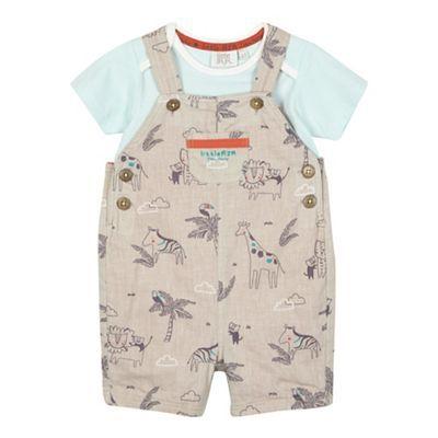 Babies Car Design Dungaree and T-Shirt Set