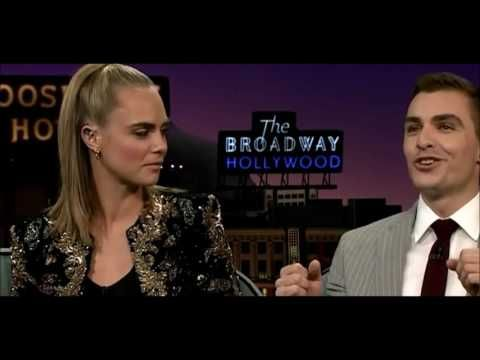 Cara Delevingne And Dave Franco Full Interview on James Corden Show - YouTube