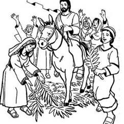 Jesus Triumphal Entry Coloring Page Bing Images This Site Has
