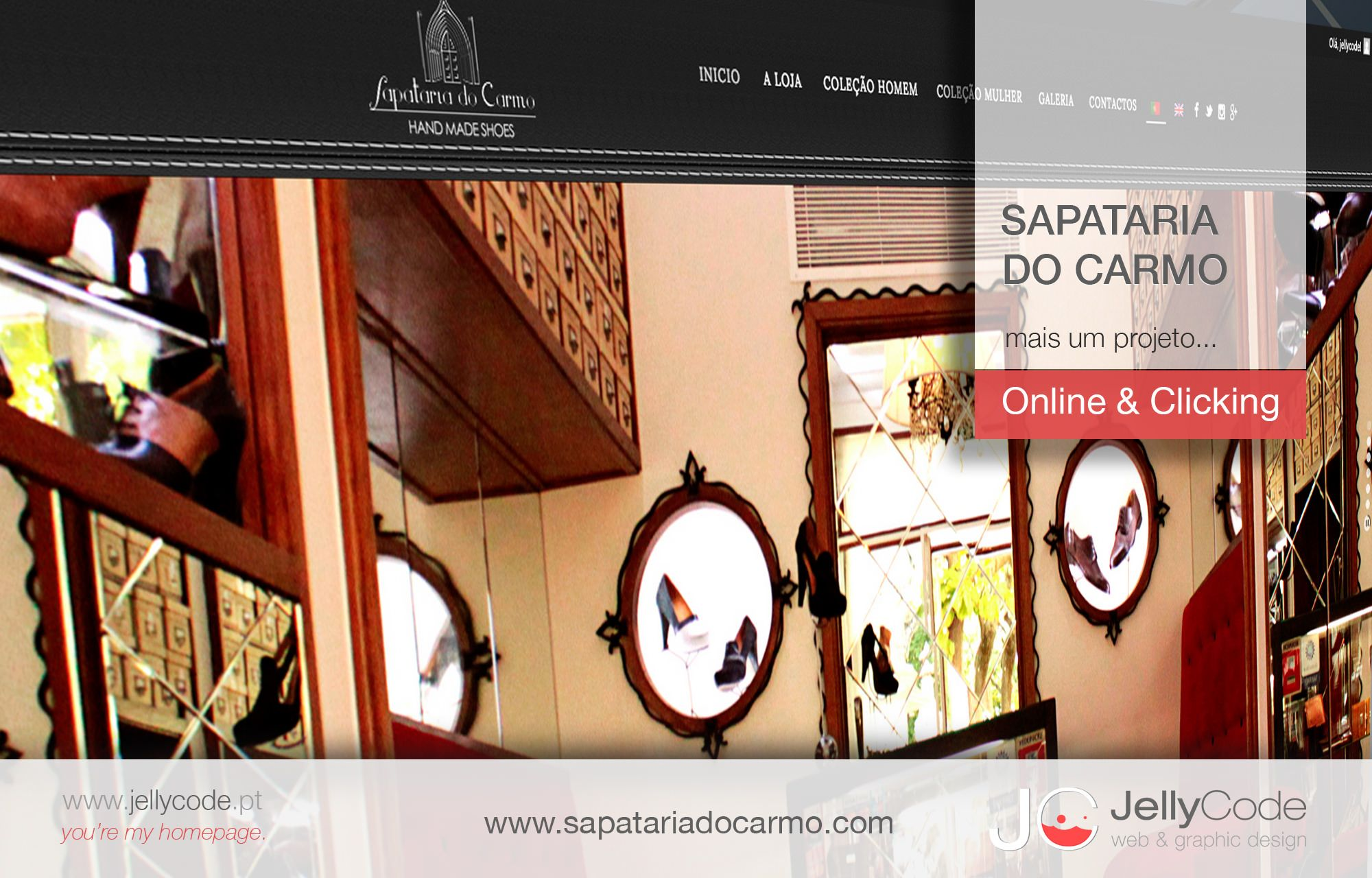 SAPATARIA DO CARMO - novo website by JellyCode.