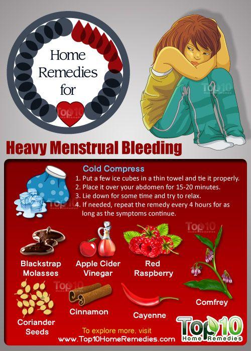 stop heavy menstrual bleeding with clots