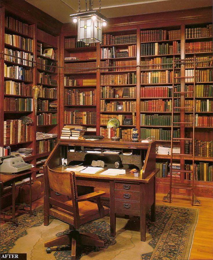 Um Lugar Para Ler E Escrever Design De Interiores Casa Casa Espanhola Biblioteca Em Casa