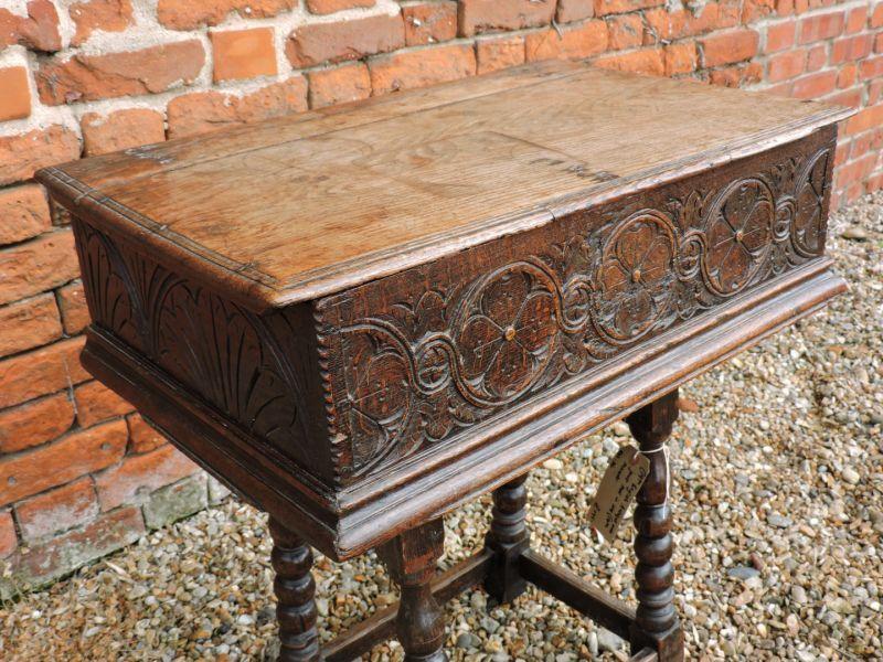 Holt Antique Furniture Ltd   16th Century English Antique Oak Boarded Box  Or Bible Box,