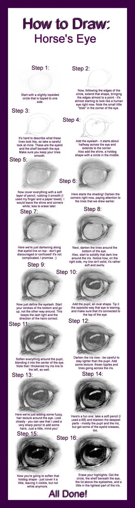 Top 10 Punto Medio Noticias | How To Draw A Realistic Horse Eye