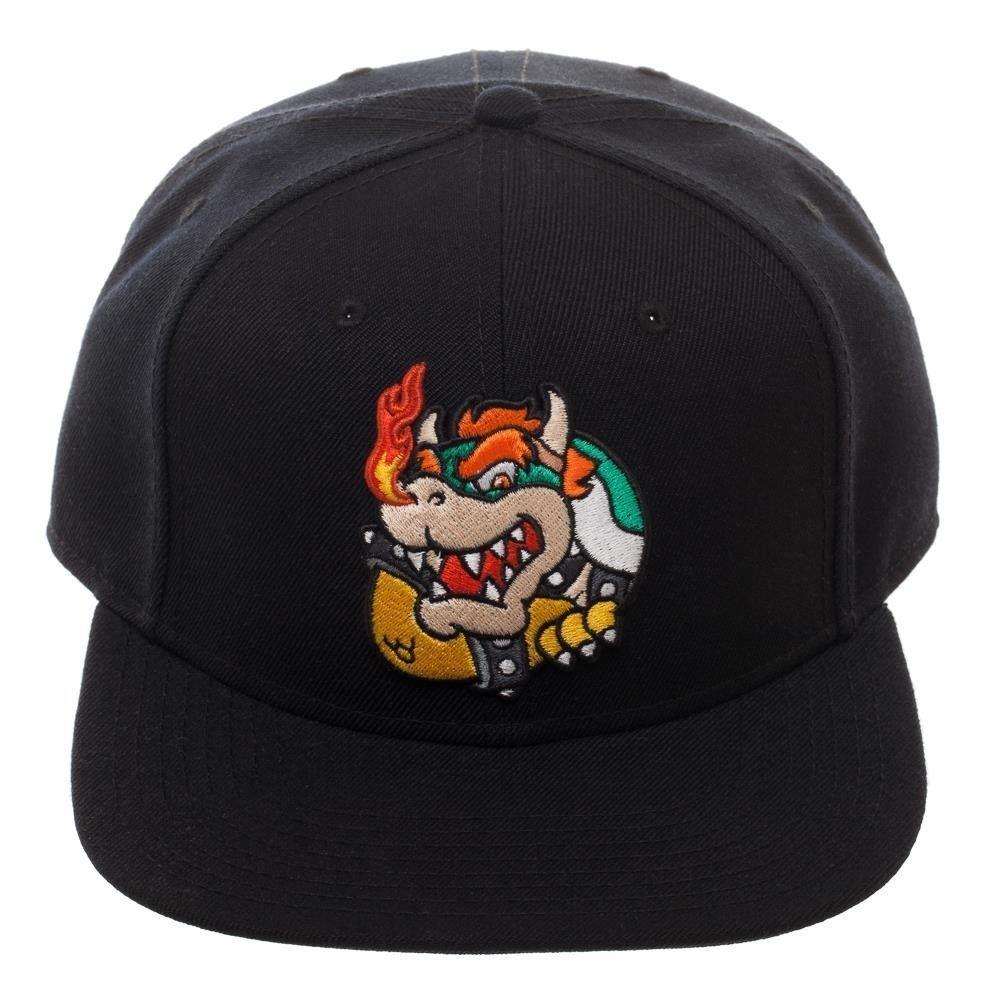 separation shoes 8329b 02aeb Super Mario BOWSER Snapback Hat Cap Officially Licensed Nintendo Enemy  Villain  Bioworld  BaseballCap