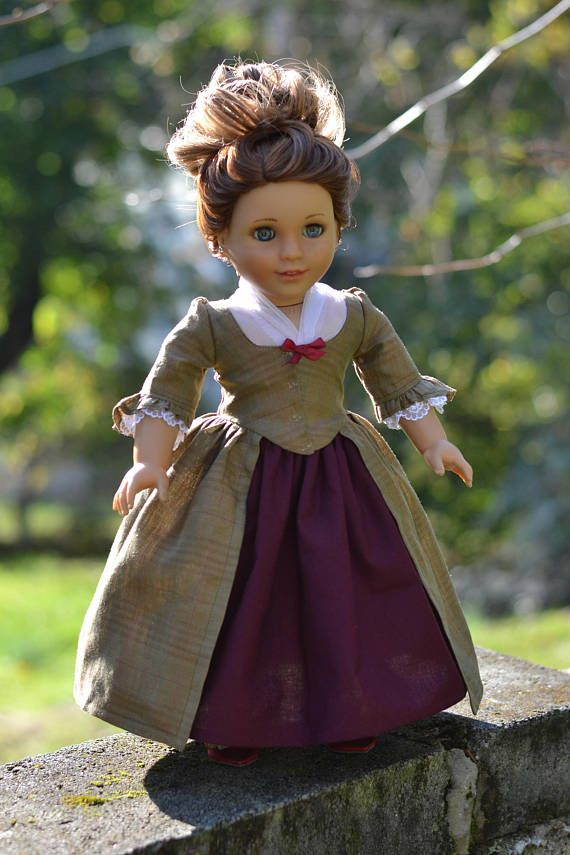Doll Dress Colonial for American Girl 18 inch doll Felicity ...