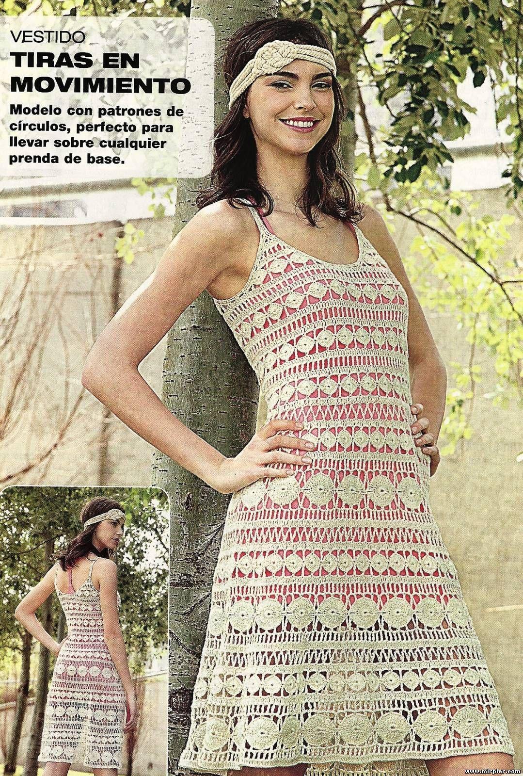 Crochet - Vestido Bege   Vestiditos, Vestidos tejidos y Tejido