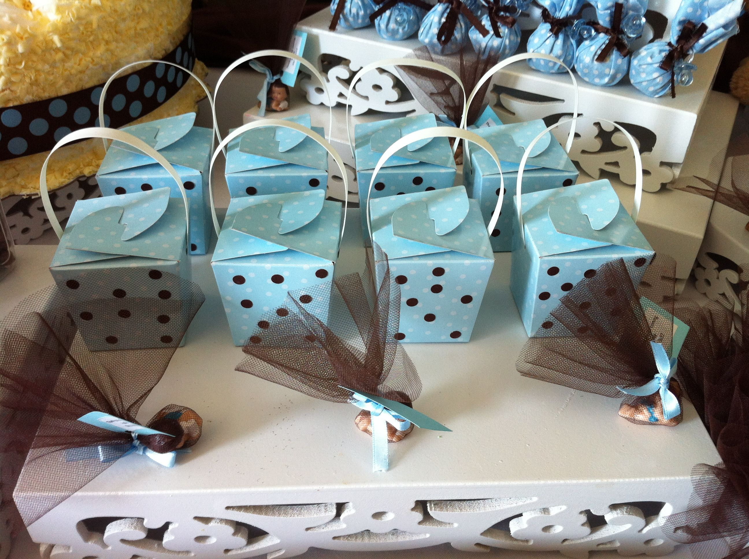 Apollo\'s baby shower. We found this little boxes at the dollar store ...