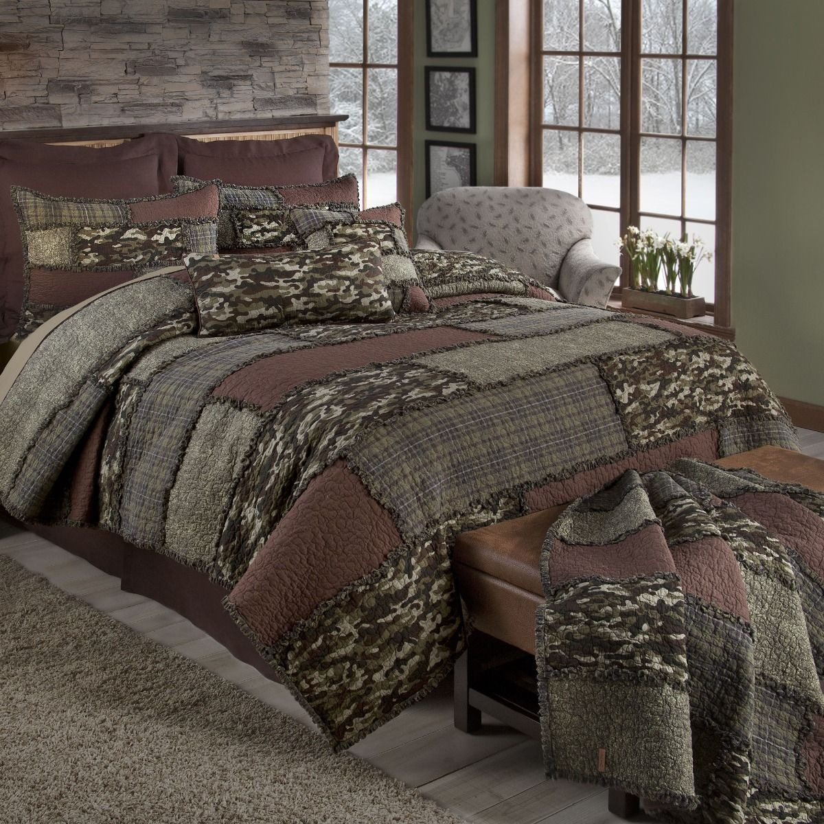 Camo Cobblestone Quilted Bedding Collection In 2020 Quilt Sets Mattress Furniture Cotton Quilt Set