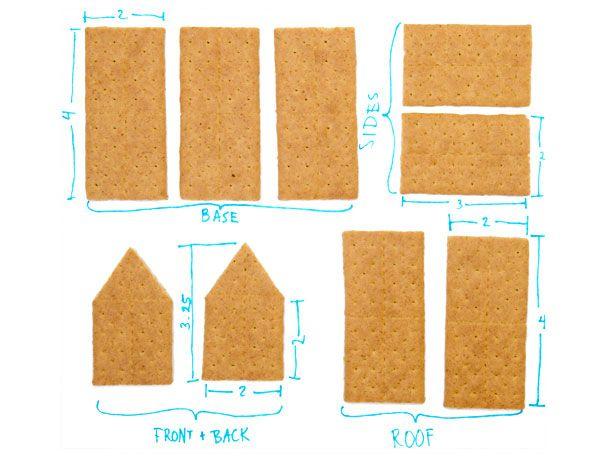 graham cracker gingerbread house template  Gingerbread House Hack: How to Make One with Graham Crackers ...