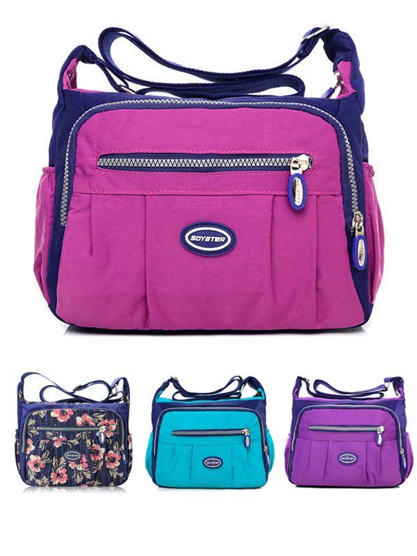 Only  12.51   Women Waterproof Nylon Shoulder Bags Multi-pocket Crossbody  Bags  f3de969800c58