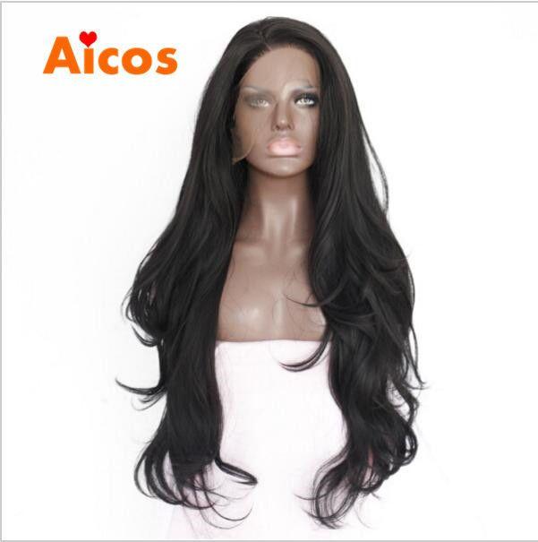 Handmade Brazilian Body Wavy Long Wigs Synthetic Lace Front Wig Heat Resistant…