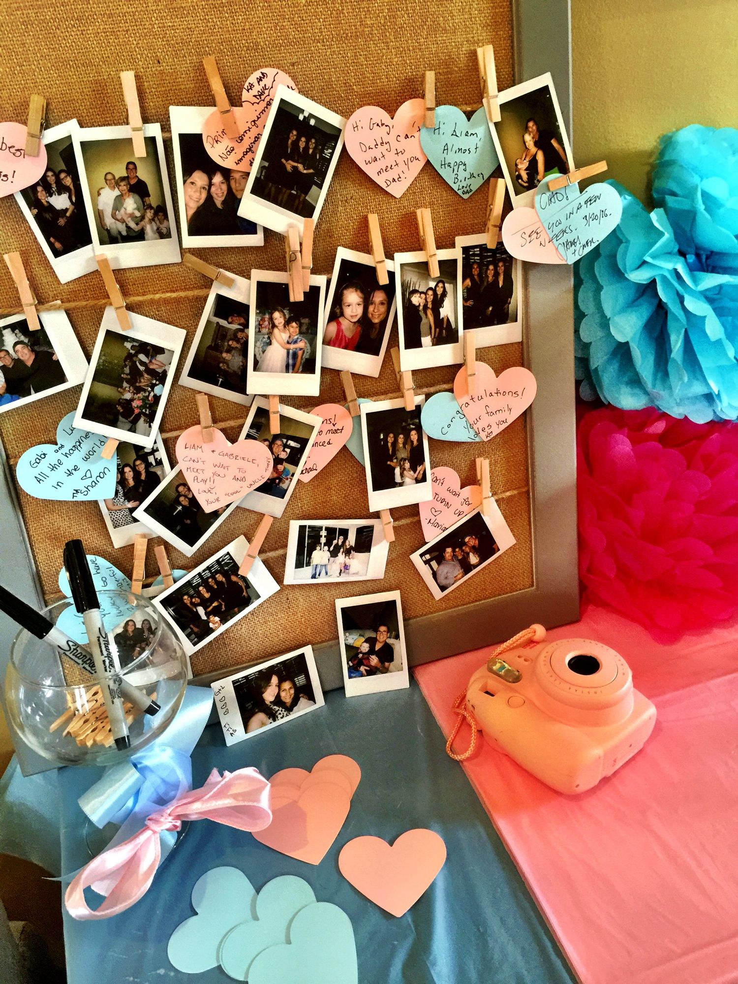 aw I should do this at my baby shower w my Polaroid camera