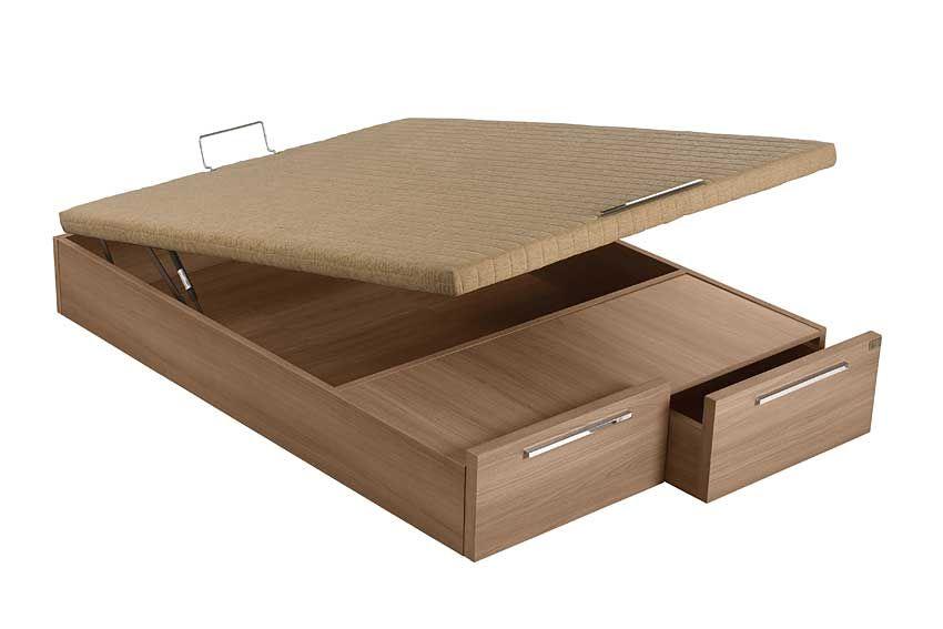 Canape Abatible Madera 2 Cajones Tapa Tapizada Material: DM Densidad ...