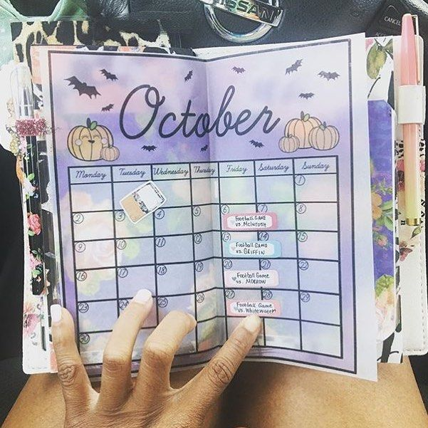 picture relating to Printable Vellum identified as I looooove how @ppwpam is making use of our totally free Oct calendar