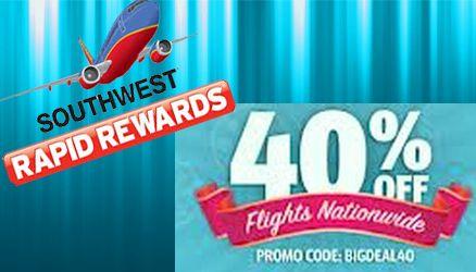 Southwest Rapid Rewards Promo Code Promo Codes Coding Rewards