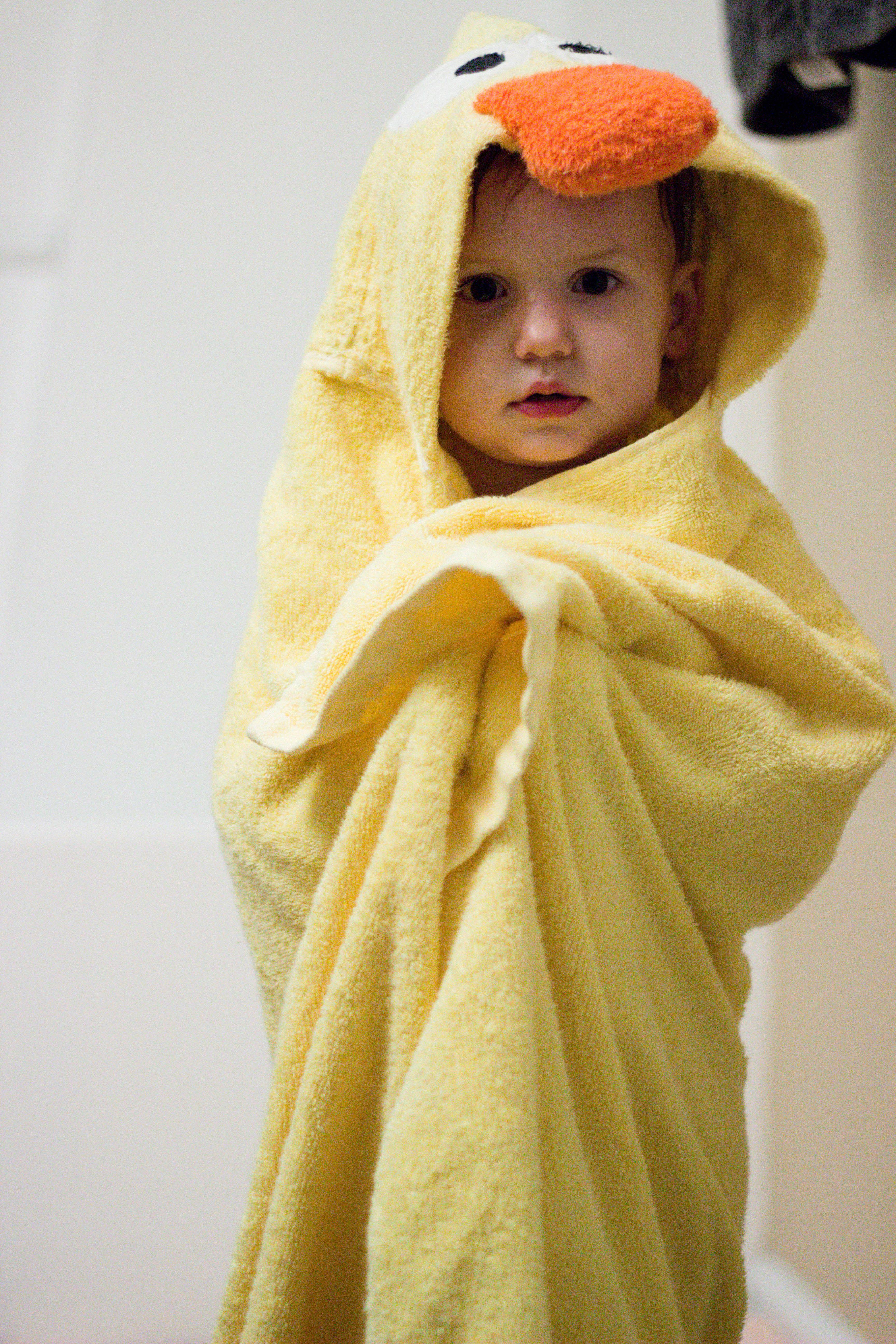 Duck Hooded Animal Towel Animal Towel Duck Hooded Towel Baby