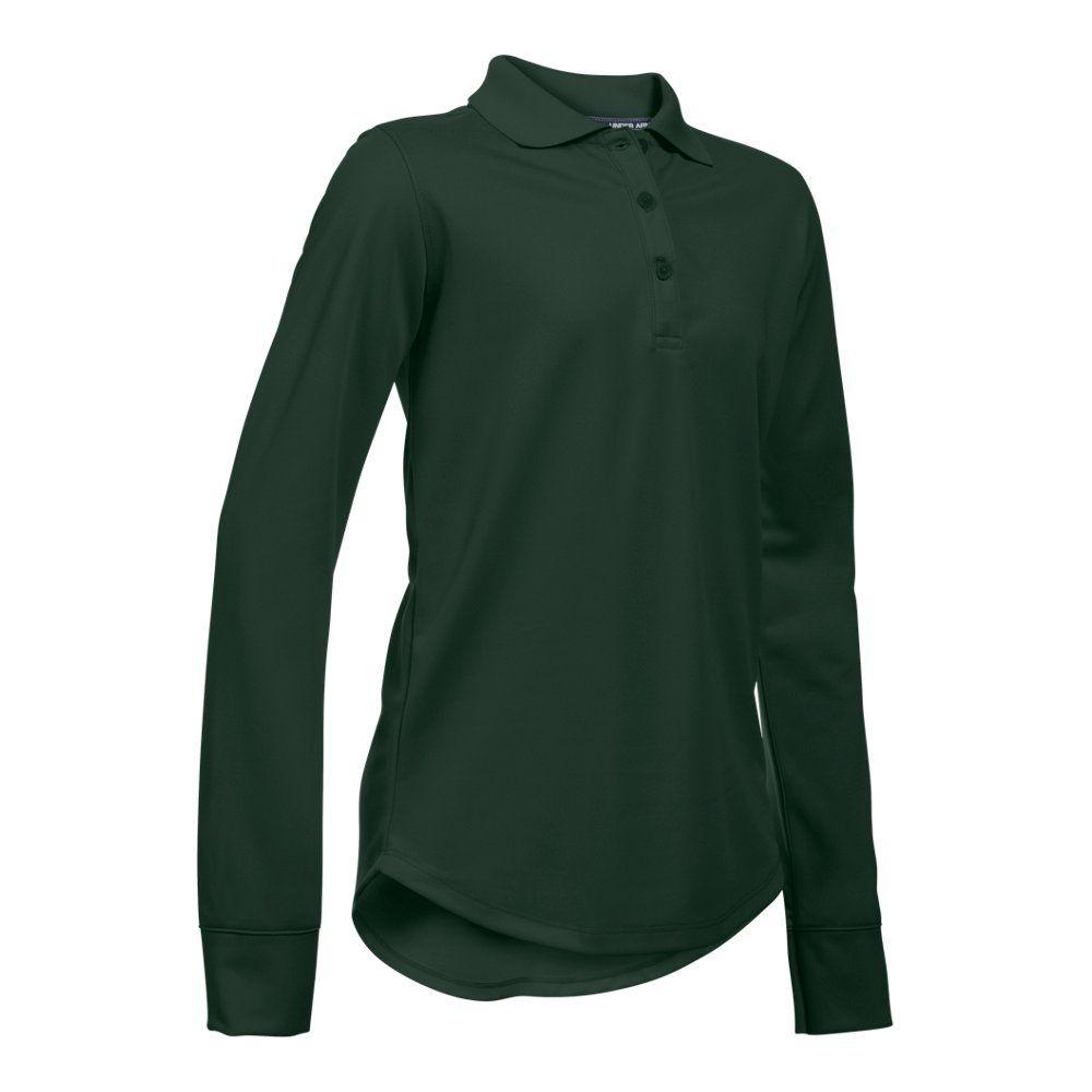 Under armour girlsu preschool ua uniform long sleeve polo