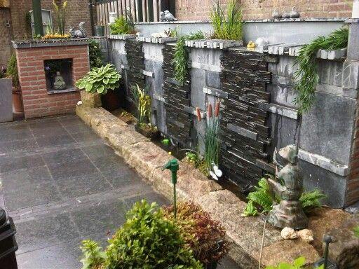 Waterval muur tuin ideetjes pinterest - Muur tuin ...